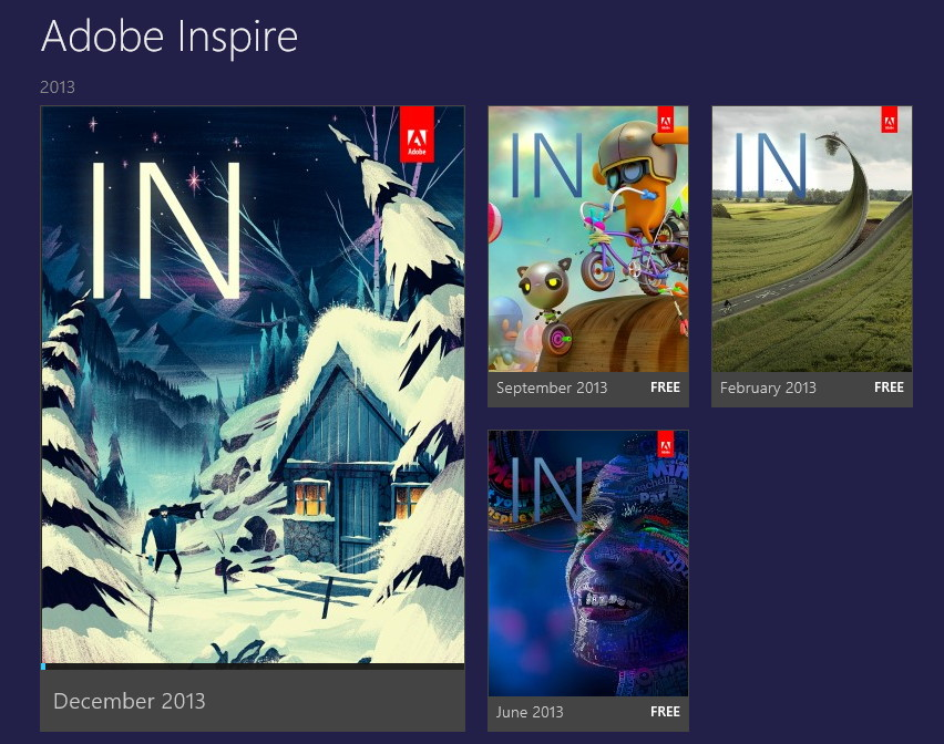 Adobe Inspire als Windows 8.1 App