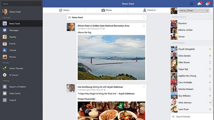 Facebook App mit massiven Verbesserungen Windows 8.1 App