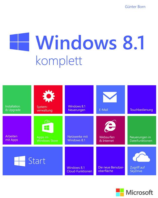 Microsoft Windows 8.1 komplett – Das neue Buch von Günter Born + Gewinnspiel