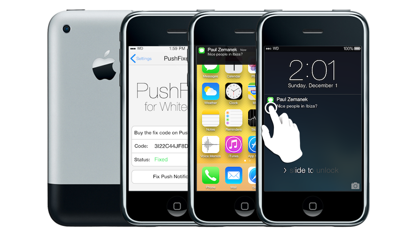 Whited00r Bringt IOS 7 Look Auf Altere Gerate IPhone 1 Und 3G