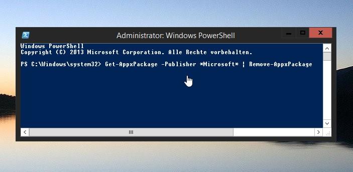 Microsoft Apps aus Windows 8.1 entfernen