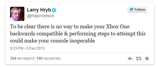 [Kurzinfo] Kompatibilitätstrick für die Xbox One kann Konsole unbrauchbar machen