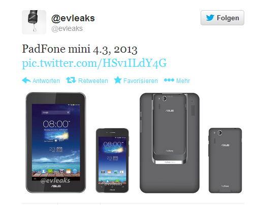 Erstes Bild vom Asus PadFone Mini 4.3 aufgetaucht