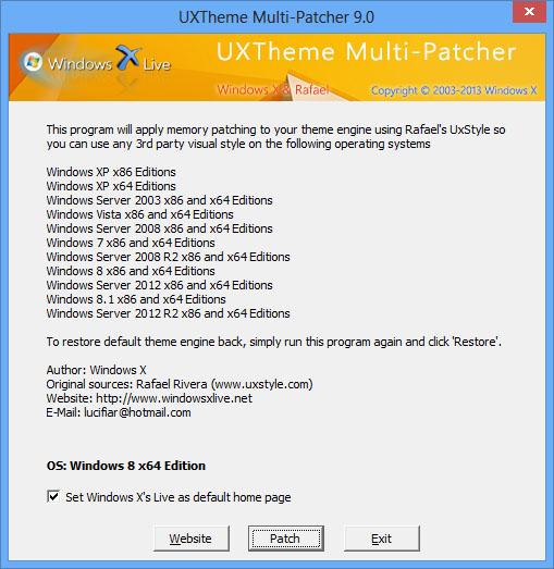 UxTheme Multi-Patcher 9 nun auch für Windows 8.1