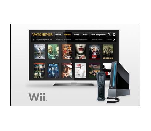 Watchever App für die Wii veröffentlicht