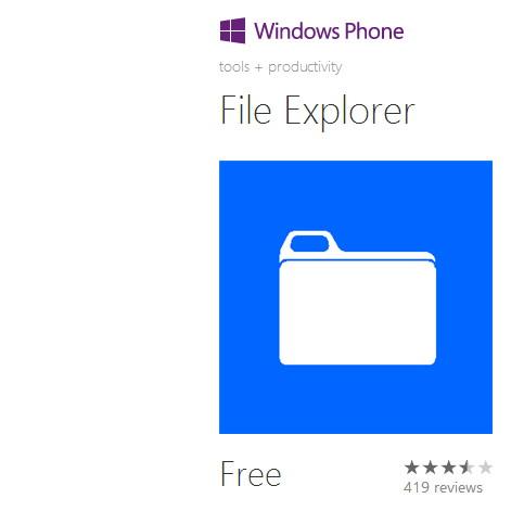 File Explorer 2.0 für das Windows Phone 8