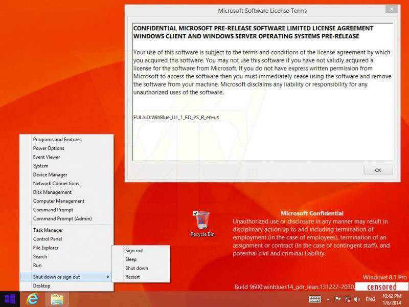 Kommt das Mini-Startmenü doch erst mit Windows 9 ?