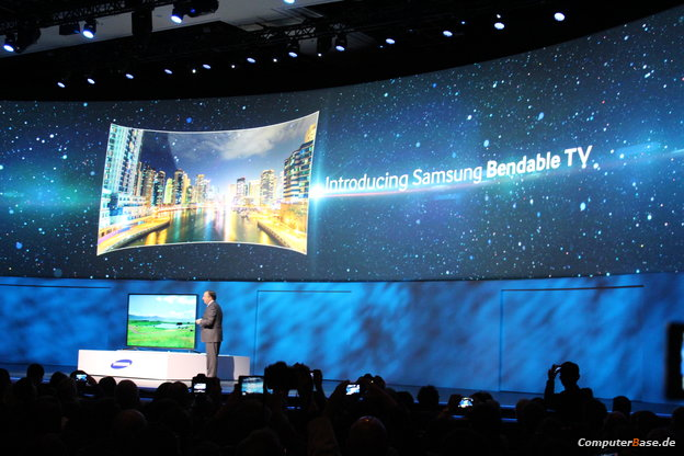 "[CES 2014] Samsung stellt ""Bendable TV"" vor – UltraHD-Fernseher welcher sich biegen kann"