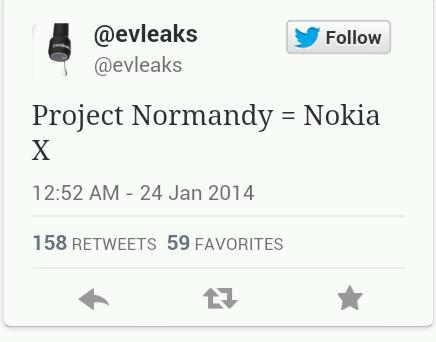 """Nokia Normandy soll als """"Nokia X"""" erscheinen"""