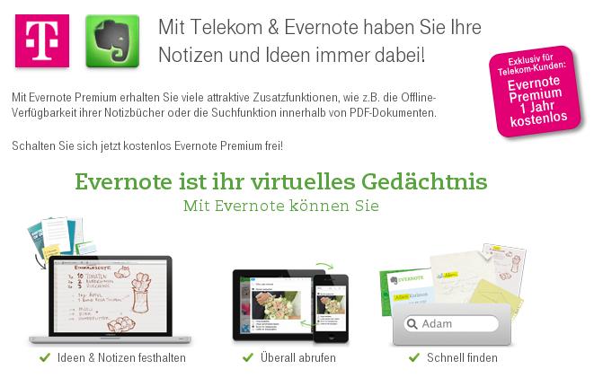 Evernote und Telekom werden Partnerschaft intensivieren