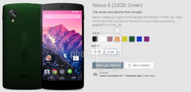 Nexus 5 bald in weiteren Farben verfügbar ?