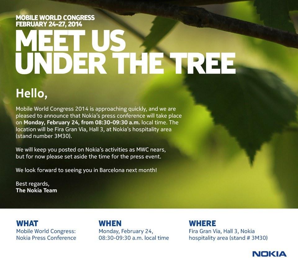 Nokia lädt zur Pressekonferenz auf dem Mobile World Congress am 24.Februar ein