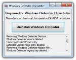 Windows-Defender-Uninstaller