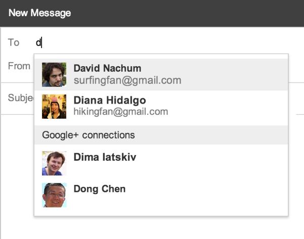 Gmail wächst mit Google+ zusammen