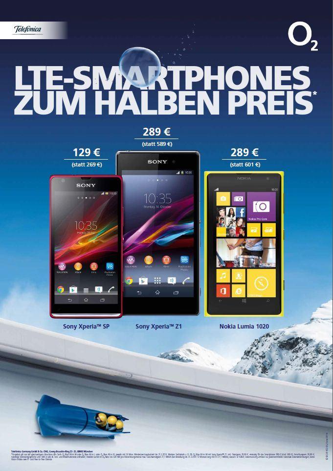 O2 startet ab morgen LTE-Aktion – Diverse LTE-Smartphones zum halben Preis