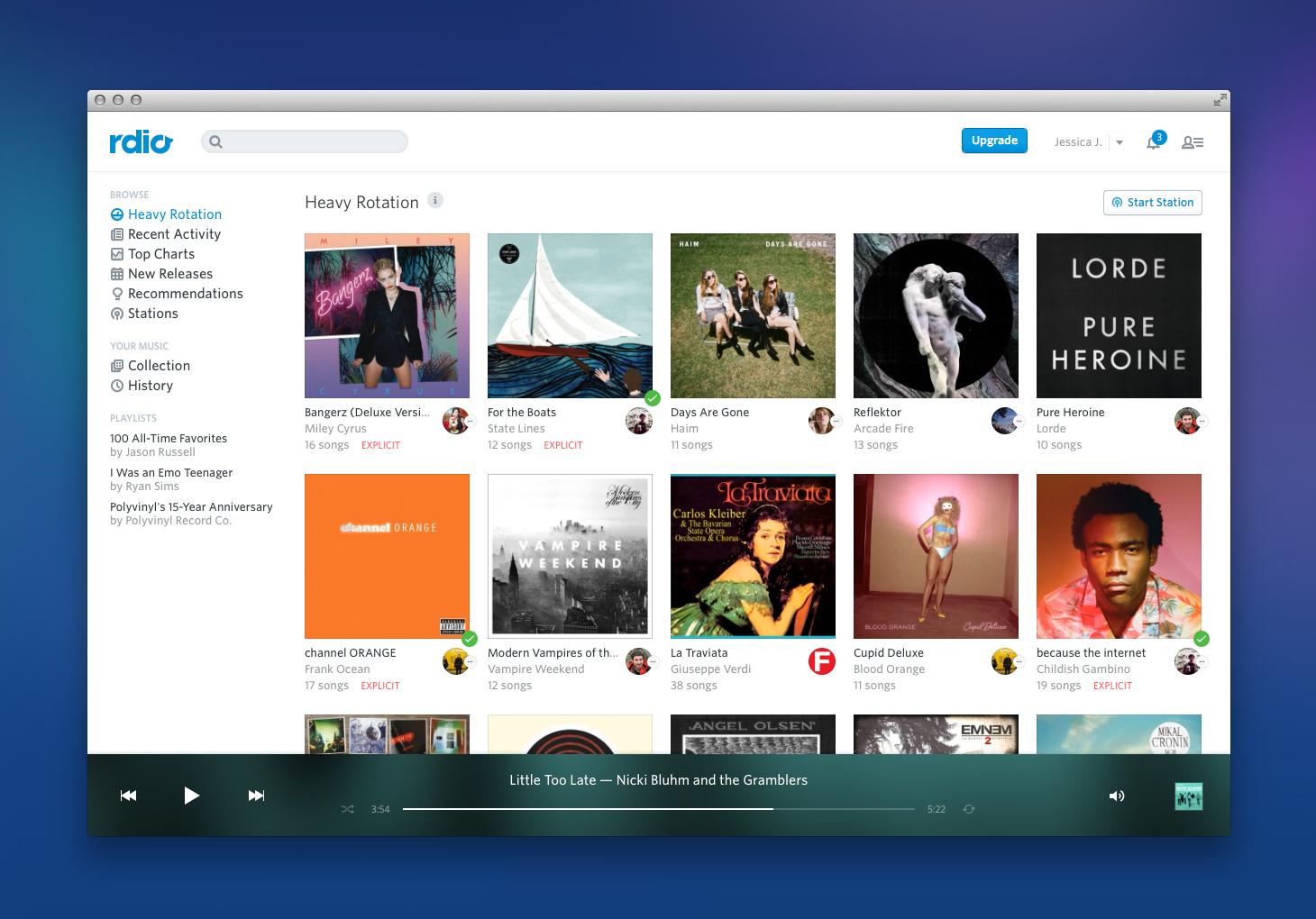 """""""Rdio"""" nun auch mit kostenlosem Musik-Streaming per Web"""