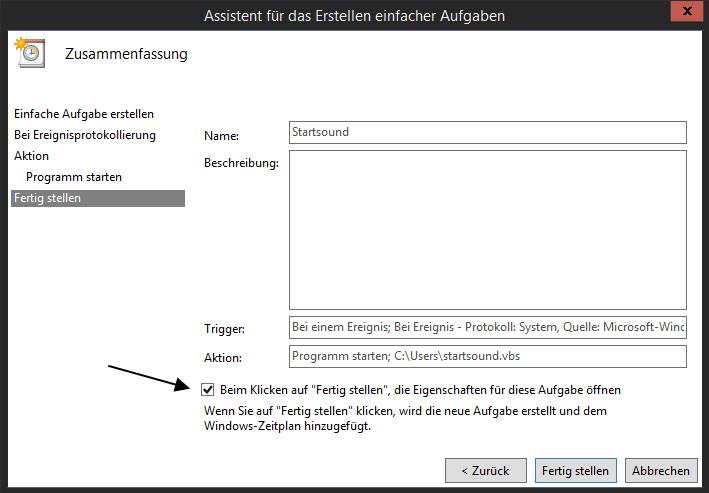 Startsound aktivieren auch beim Windows 8.1 Schnellstart. Und so geht es: