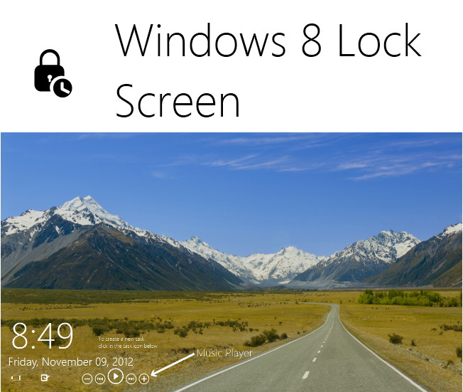Windows 8 Lock Screen für Windows 7 und älter