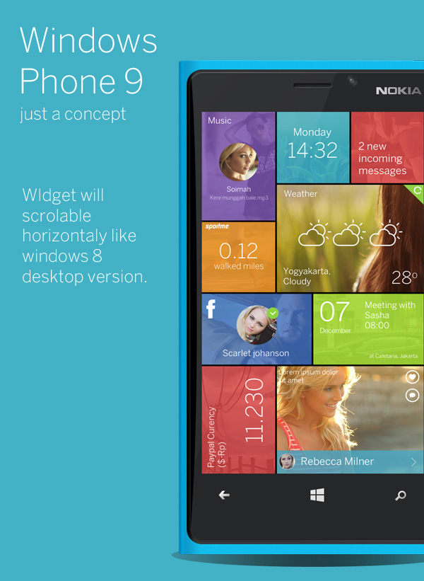 Konzept zu Windows Phone 9