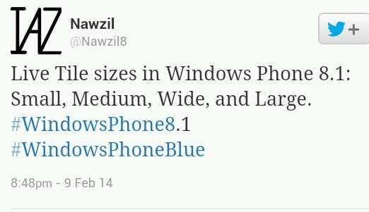 Neue Kachelgröße soll mit Windows Phone 8.1 kommen