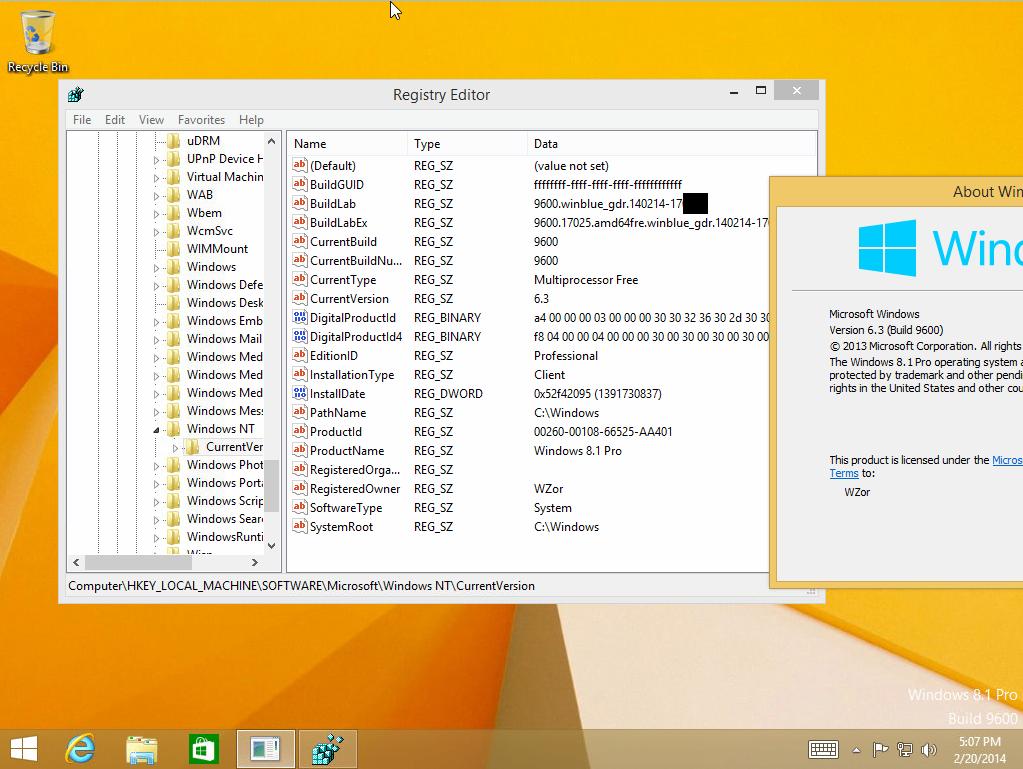 Windows 8.1 GDR 1 mit neuer msu mit einer Leak-Ankündigung
