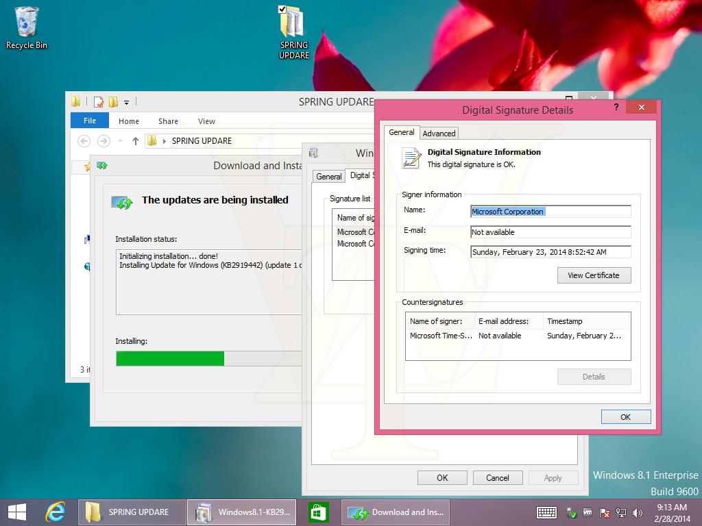 Microsoft schiebt noch eine Windows 8.1 Update 1 Escrow hinterher