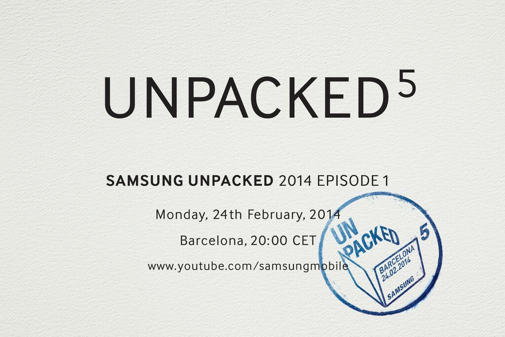 """Samsung mit """"Unpacked Event"""" zum Galaxy S5 am 24.Februar"""