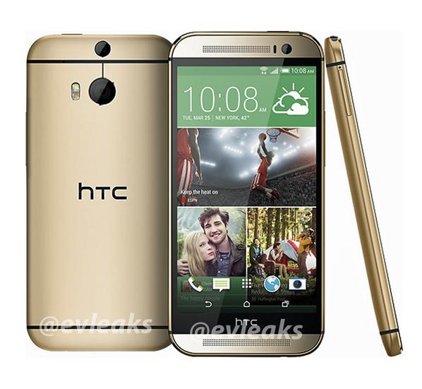 Das neue HTC One (2014) zeigt sich in Gold auf weiterem Pressebild