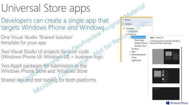 Windows Apps und Windows Phone Apps rücken immer weiter zusammen