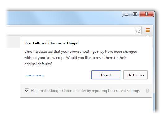 Google Chrome warnt ab sofort per Pop-Up bei Änderungen der Einstellungen