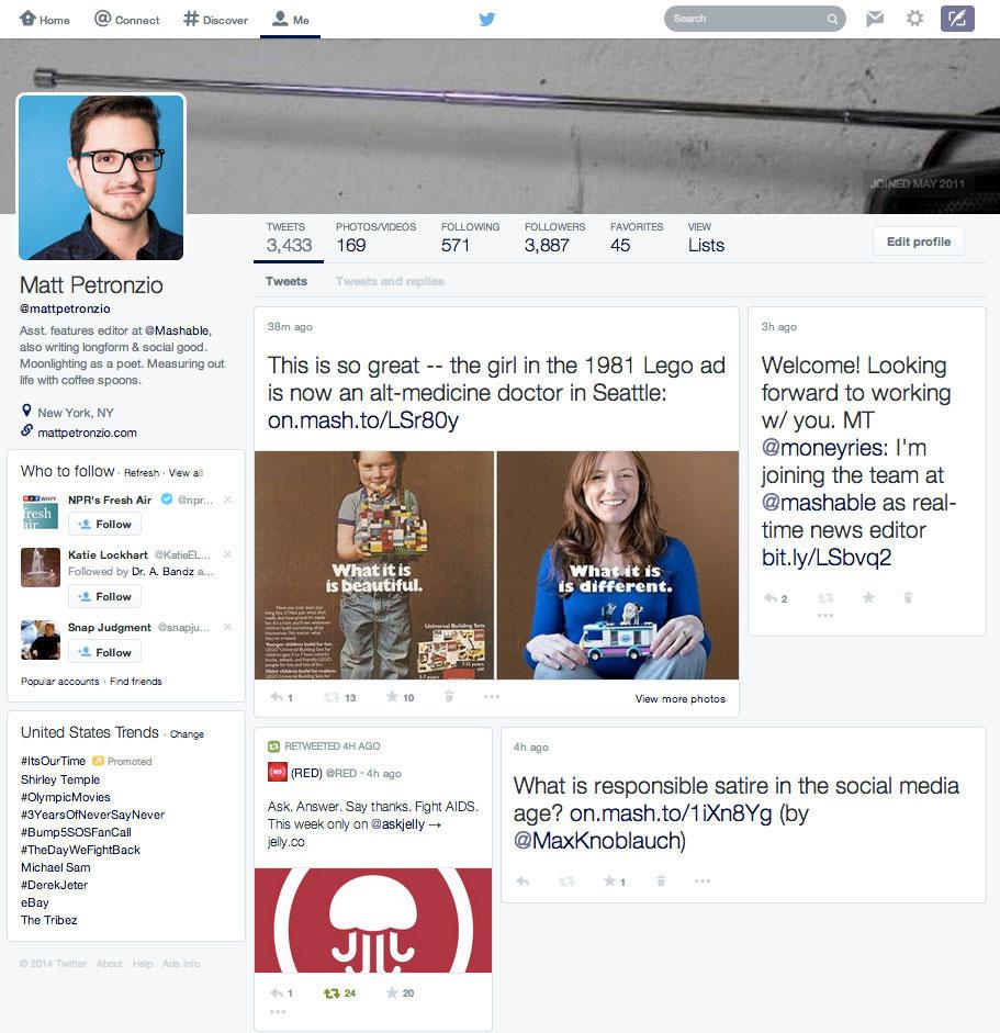 Twitter plant Designänderung der Webansicht