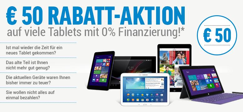 Notebooksbillger.de bis zum 15.Februar mit 50,- Euro Rabatt auf Tablets