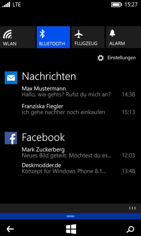 Windows Phone 8.1: Die Neuerungen im Überblick (neue Fotos)