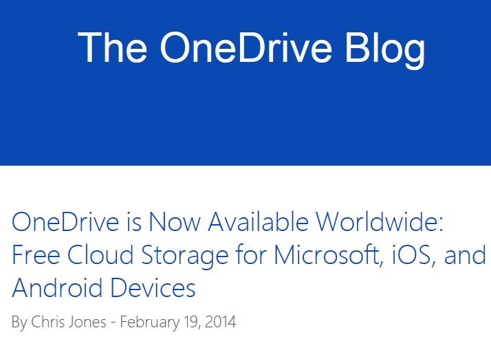 Microsoft OneDrive ist nun offiziell [Update]