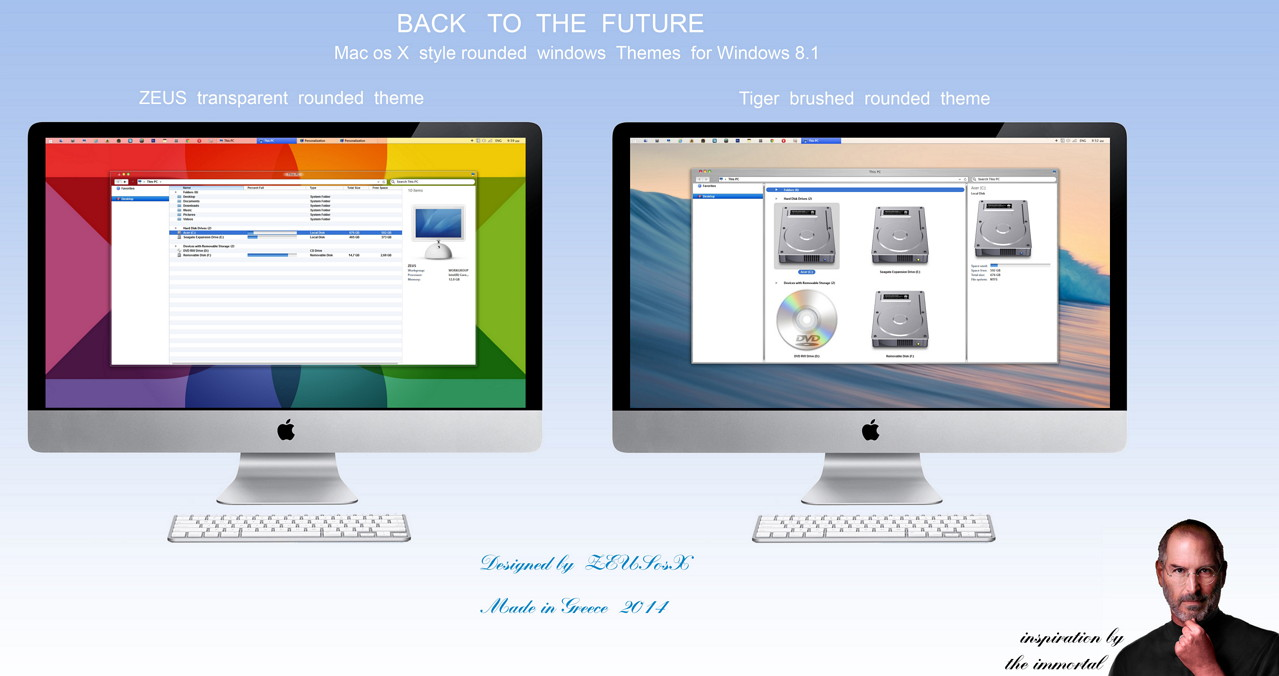 Windows 8.1 Mac osX  Theme von ZEUSosX