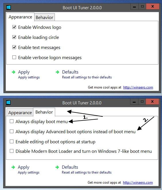 Boot UI Tuner 2.0 für Windows 8.1 und 8 erschienen