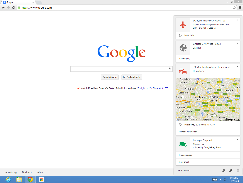 Google Now demnächst offiziell für Windows und OS X verfügbar