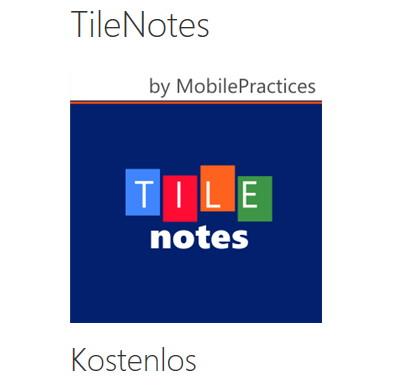 TileNotes für das WindowsPhone mit einem Update auf Version 2.2 (Video)