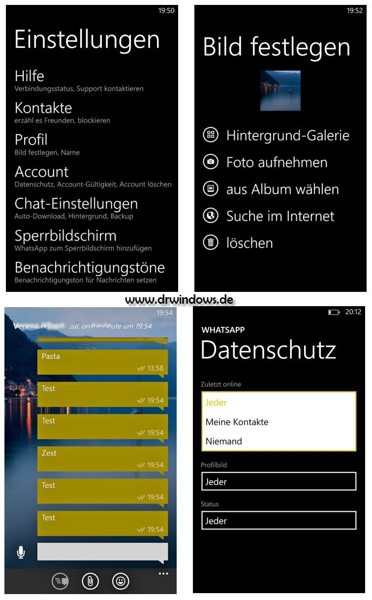 Fotos der BETA-Version von WhatsApp für Windows Phone zeigt neue Funktionen