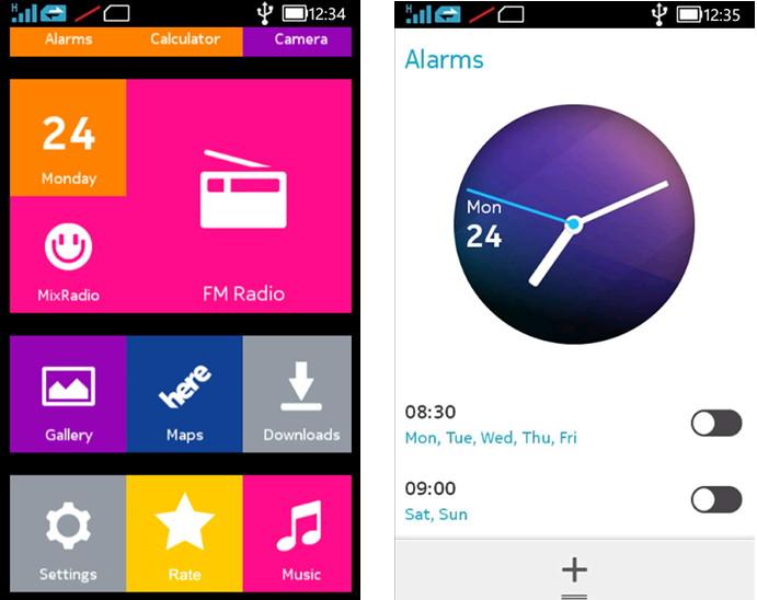 Nokia X Feeling auf einem Windows Phone mit einer App