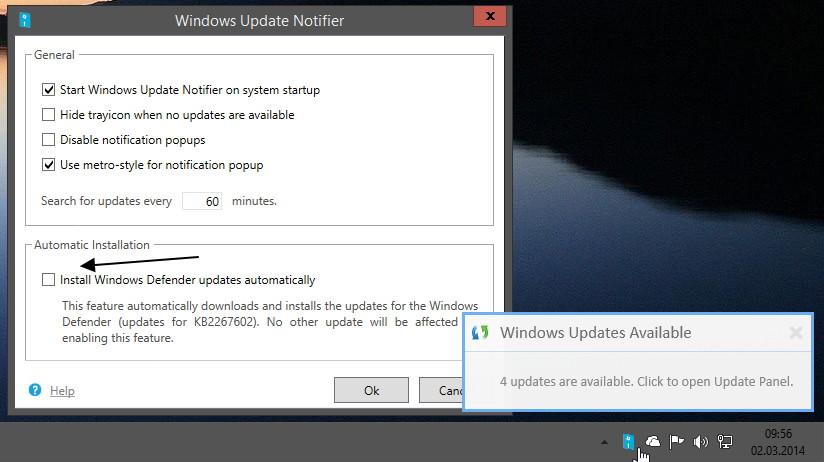 Windows Update Notifier in Version 1.4 erschienen