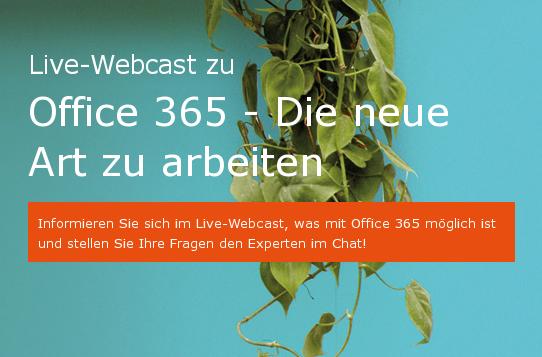 """Termin vormerken – Erneuter Webcast zu """"Office 365"""" am 22.Mai"""
