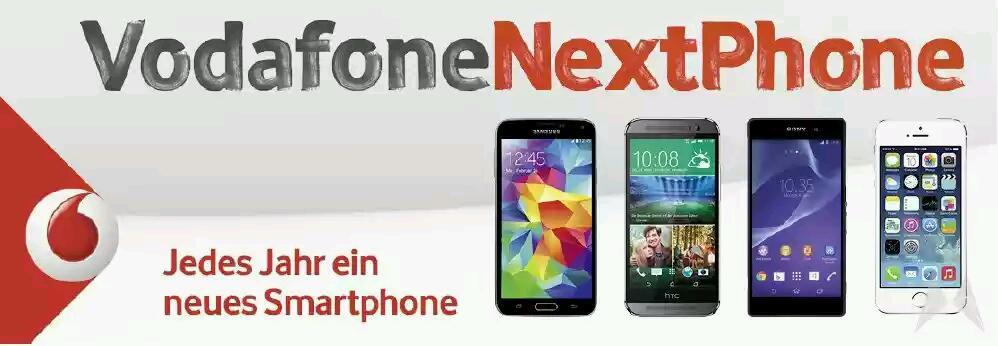 """Vodafone mit neuer Vertragsoption """"NextPhone"""""""