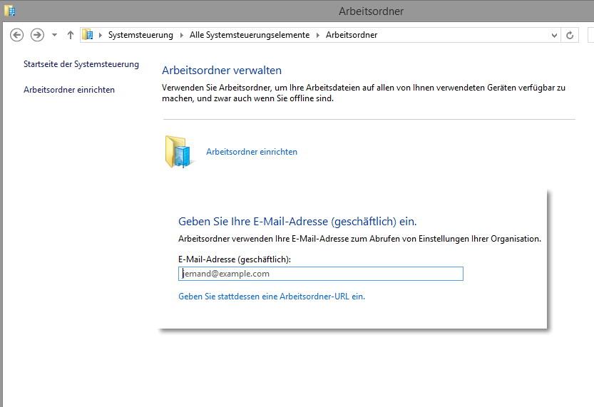 Arbeitsordner -Work Folders- nun auch für Windows 7