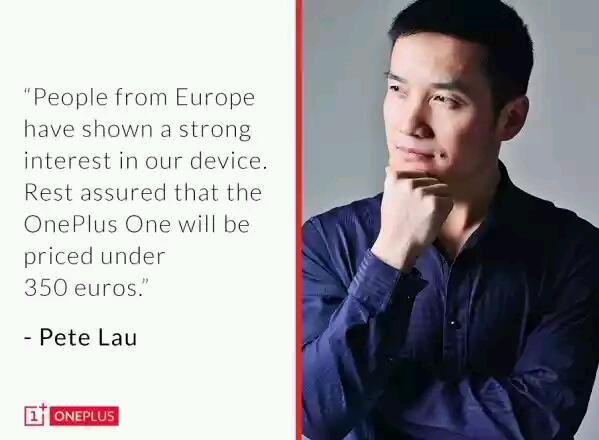 OnePlus One soll in Europa nicht über 350,- Euro kosten