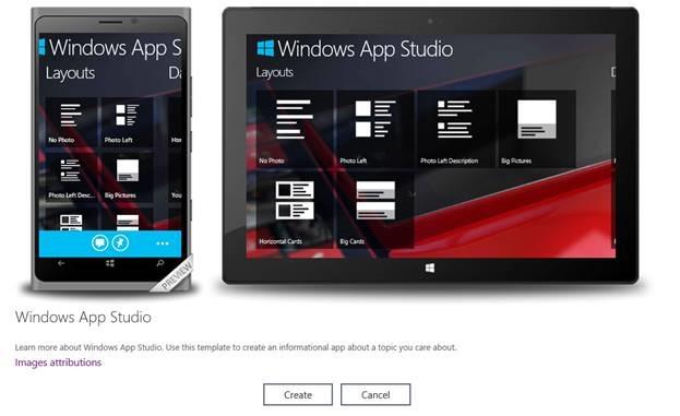 Windows App Studio kann nun auch Universal Apps erstellen