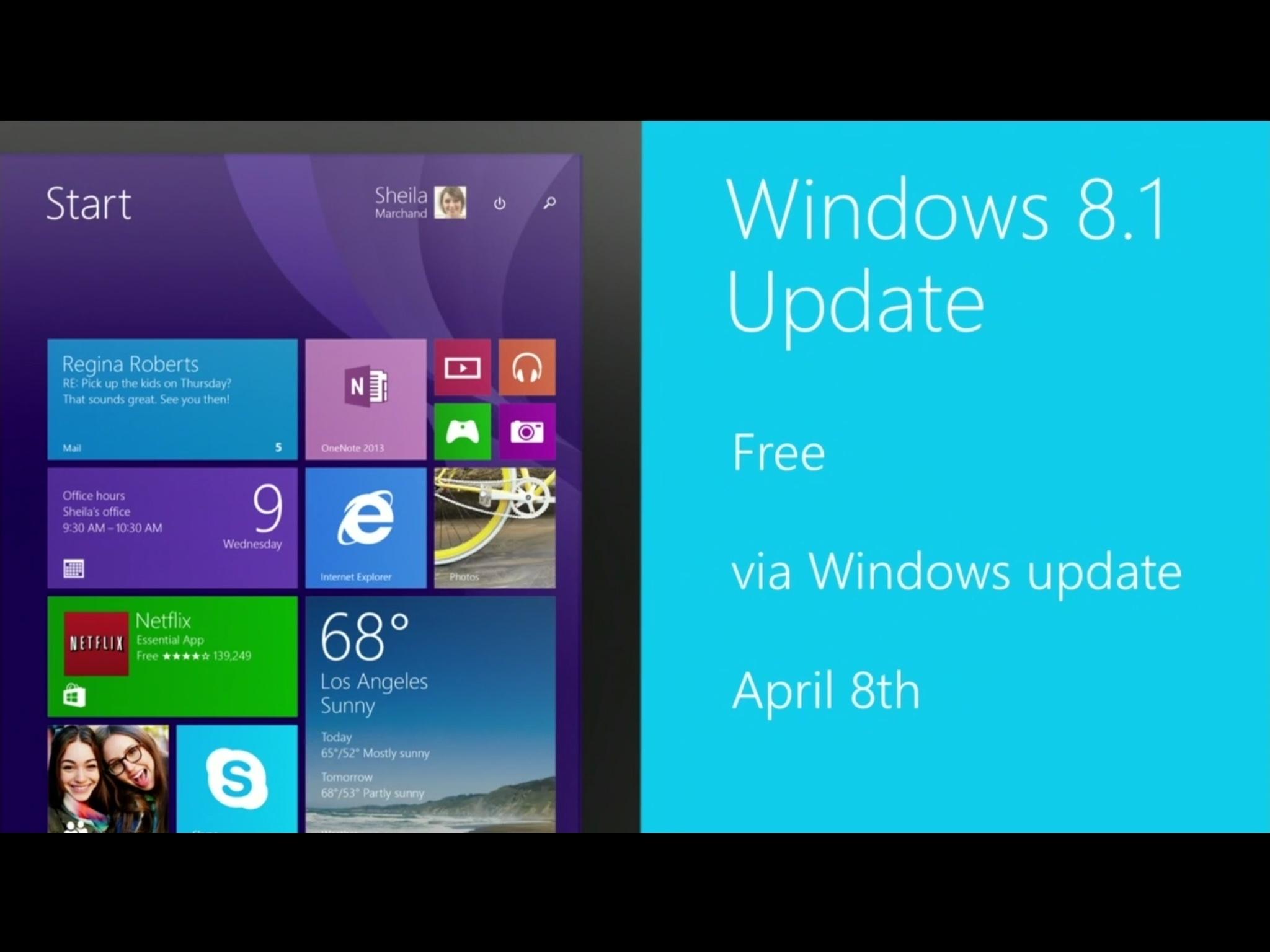 [BUILD 2014] Windows 8.1 Update offiziell vorgestellt