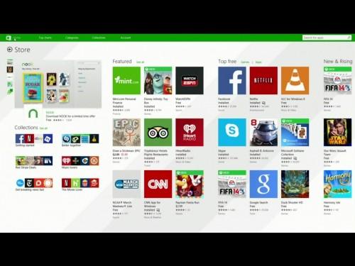 Der neue angepinnte Appstore für Desktopnutzer.