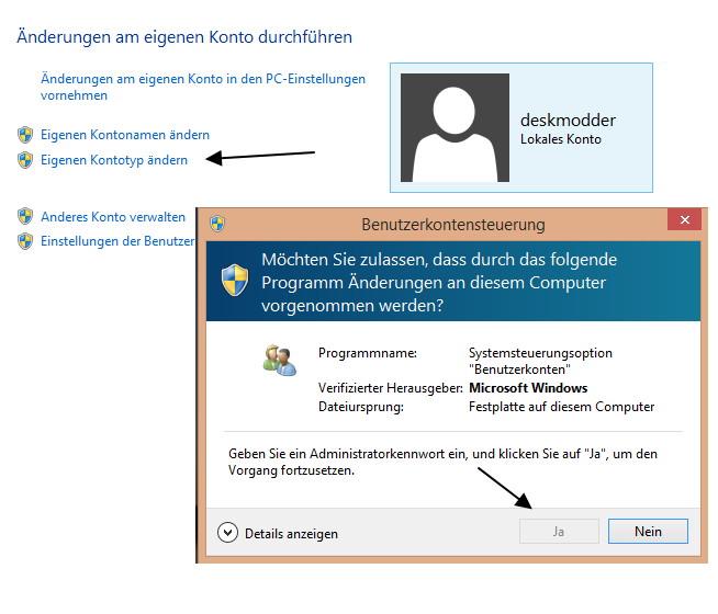 [Fix] Benutzerkonto in ein Standard-Konto geändert: Keine Administratorrechte mehr
