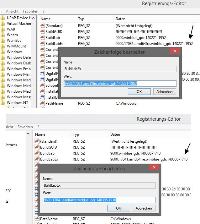 Windows 8.1 Update (1) MSDN ISO in der freien Wildbahn